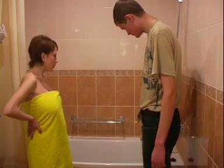 grandes mamas, grávida, banheiro