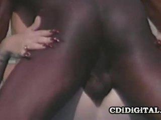 Lynn lemay retro blondie pleasing a czarne dong