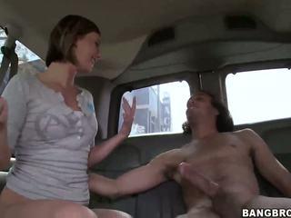 เซ็กซี่ บลอนด์ หมาป่าผู้หญิง nailed ใน the bang รถบัส