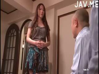 brunette, japanese, blowjob