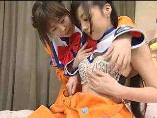 Japán leszbikus tizenéves videó
