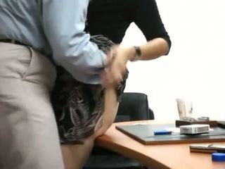 Sekretær få knullet i kontor
