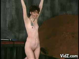 She is whips, spank and slap on her body