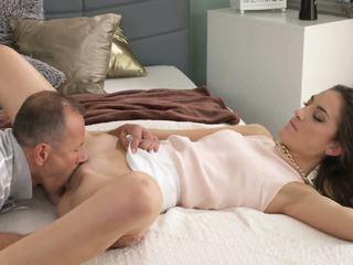 brunette, oral sex, kissing