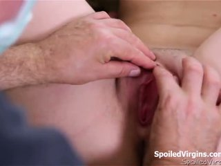 Spoiled virgin Rita would not give it up unless she had an exam first