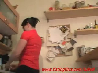 Amatorskie żona anal fisted w the kuchnia