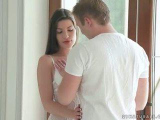 Bruneta enjoying romantic sex s ju boyfriend