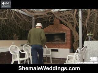 Quente shemale weddings cena starring senna, rabeche, alessandra