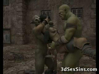 Ogres homosexual quente 3d bebês!