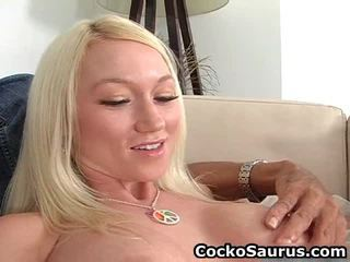 Busty White Tresses Doll Plays Oustanding Power Tool