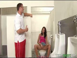 hardcore sex, fasz surprize ő, lány fasz a kezét