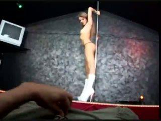 stripper, creampie, blond