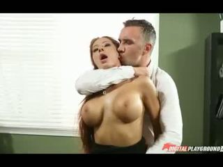 Busty Madison Ivy railed in the office