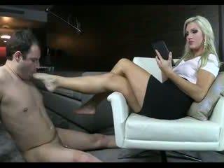 hoorndrager, voet fetish, femdom