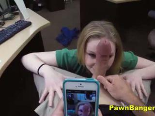 Shaved Pussy Blonde Slut Sucks And Fucks A Nice Big Dick