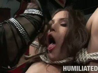 Servitude doxy charlotte vale is tied up and forced to suck big hard sik