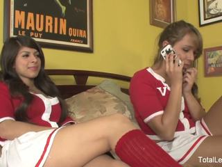 3 schoolgirls engage in hot lesbian action