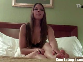 You're going to love eating cum CEI