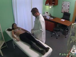 Brunette fucked by doctor on spy cam