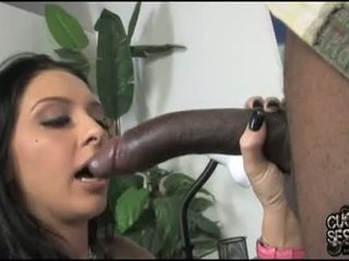 Stephanie kane 孩儿 有 可爱的 darksome meat 在 口
