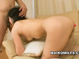 Junko konno giapponese momma experiencing dual sesso