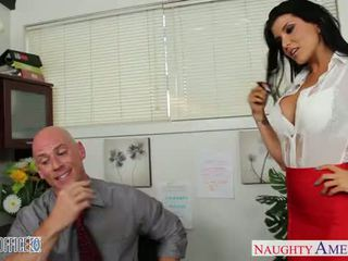 Office babe in high heels Romi Rain fu...