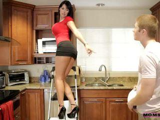אמהות ללמד סקס - שלה boyfriend jizzed ב שלה אמהות פטמות