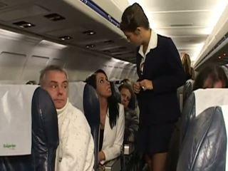 Raske seks koos väga kuum stewardesses