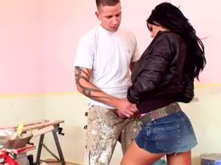 Glamorous Meat Puppet Black Angelica Whacks Her Pleasant Mouth With A Fat Shaft