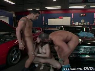 Sexy Sexy Slut Dominica Leoni Feeds Her Throat One Cock At A Time And Likes It