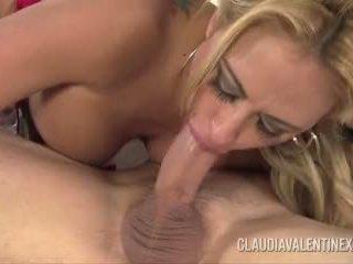 Claudia Valentine Fucks and Sucks Santa