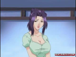 Japońskie hentai mama z ogromny jugs gets fucked przez stary człowiek