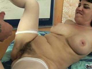 hardcore sex, големи цици, космати путка