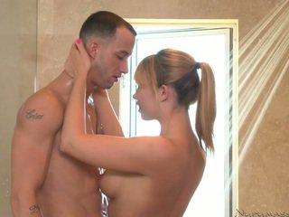 oriental, asiático, ducha sexo