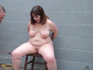 Obézní slavesluts electro bondáž, nadvláda, sadismus, masochismu a ošklivý pláč velké krásné ženy