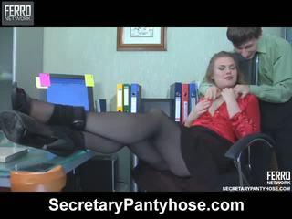 Alana charley titkárnő harisnyatartó film