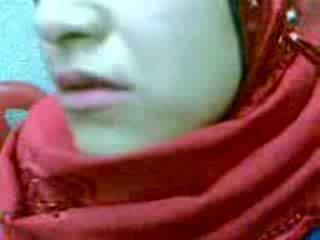 Akrobatik arab hijab kadın düz video