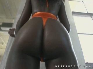 Jamaika finom sötét fekete picsa forró csúfolás