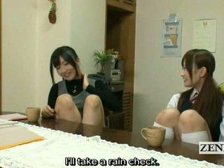 Subtitled lesbian japonez invatatoare bath cu scolarita