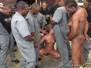 Amirah adara fucks an entire crew de noir guys