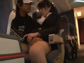 Officelady otipavanje v airliner