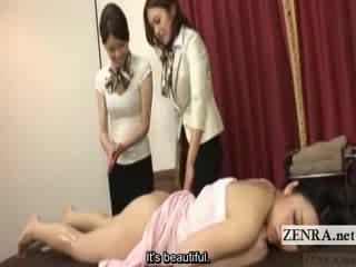 Subtitled ýapon lezbiýanka gyzyň bampery oil massaž training