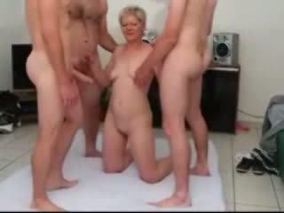 Sandy a mature gangbanged by few dicks