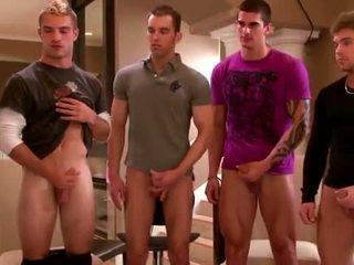 Sexy group amateurs masturbating