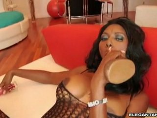 Nyomi Banxxx Feels The Massive Toy 10 Pounder Dipping Real Hard In Her Meatcave