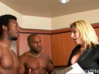 Sara Jay Sucking Two Large Black Dicks