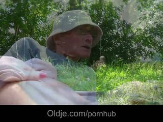 Sweey Alessandra fucked in park by big old boner