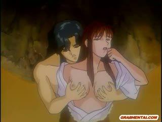 Japońskie hentai mama gorące pieprzenie przez bald