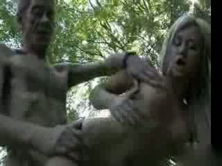 Old daddy fucks college girl in the woods Video