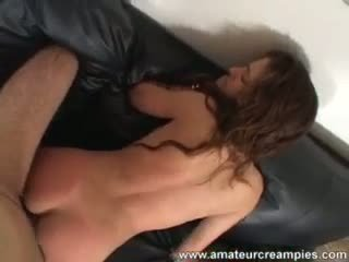 Hot brunette Alexa anal fuck and pussy crampie